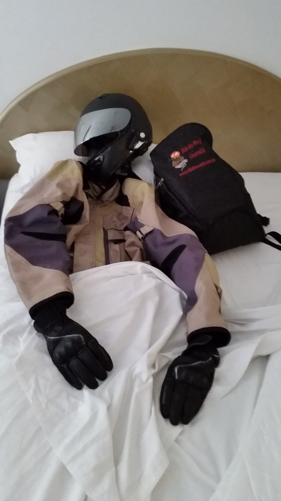 After a big day riding even the gear needed a rest.